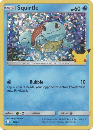 Squirtle - 17/25 - Holo - McDonalds 25th Anniversary Promo
