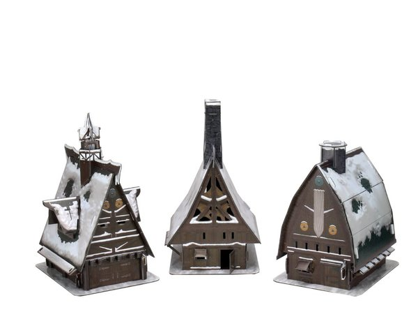 D&D Miniatures: Icons Of The Realms - Icewind Dale Rime Of The FrostMaiden - Ten Towns PaperCraft Set