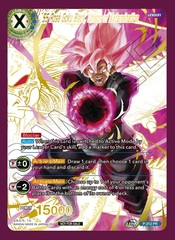 SS Rose Goku Black, Unison of Extermination - P-212 - PR (Gold Stamped)