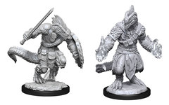 D&D Nolzur's Marvelous Miniatures: Lizardfolk Barbarian & Lizardfolk Cleric (Wave 15)