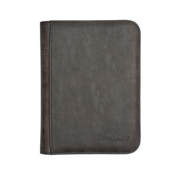 Ultra Pro - Zippered 4-Pocket Premium PRO-Binder - Suede Collection: Jet