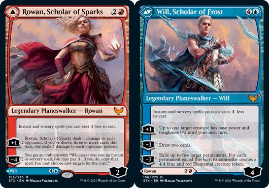 Rowan, Scholar of Sparks // Will, Scholar of Frost