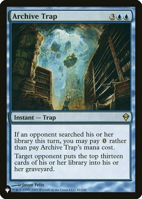 Archive Trap - The List