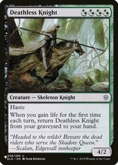 Deathless Knight - The List