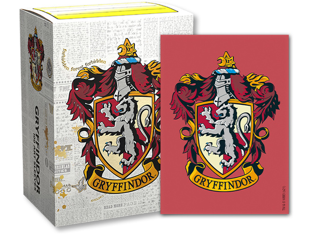Dragon Shield Harry Potter House Brushed Art Sleeves: Gryffindor
