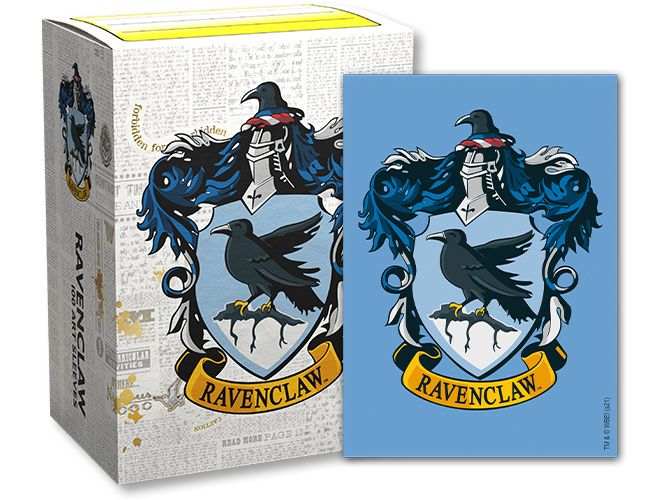 Dragon Shield Harry Potter House Brushed Art Sleeves: Ravenclaw