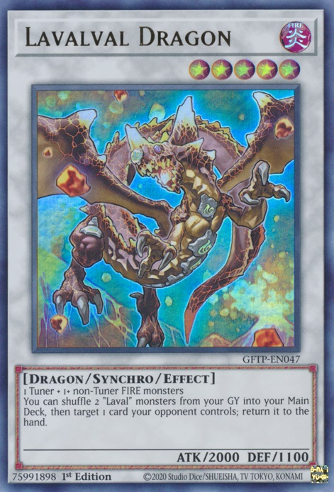 Lavalval Dragon - GFTP-EN047 - Ultra Rare - 1st Edition