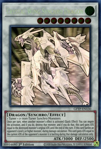 Crystal Wing Synchro Dragon - GFTP-EN130 - Ghost Rare - 1st Edition