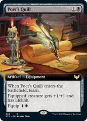 Poet's Quill - Foil - Extended Art