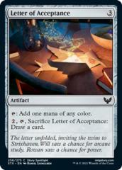 Letter of Acceptance - Foil