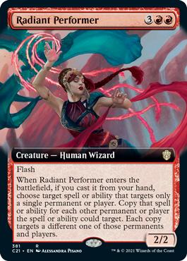Radiant Performer - Extended Art