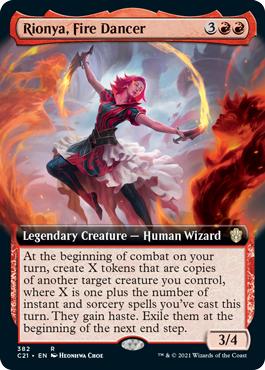 Rionya, Fire Dancer - Extended Art