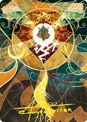 Lightning Bolt Art Card - Gold-Stamped Signature