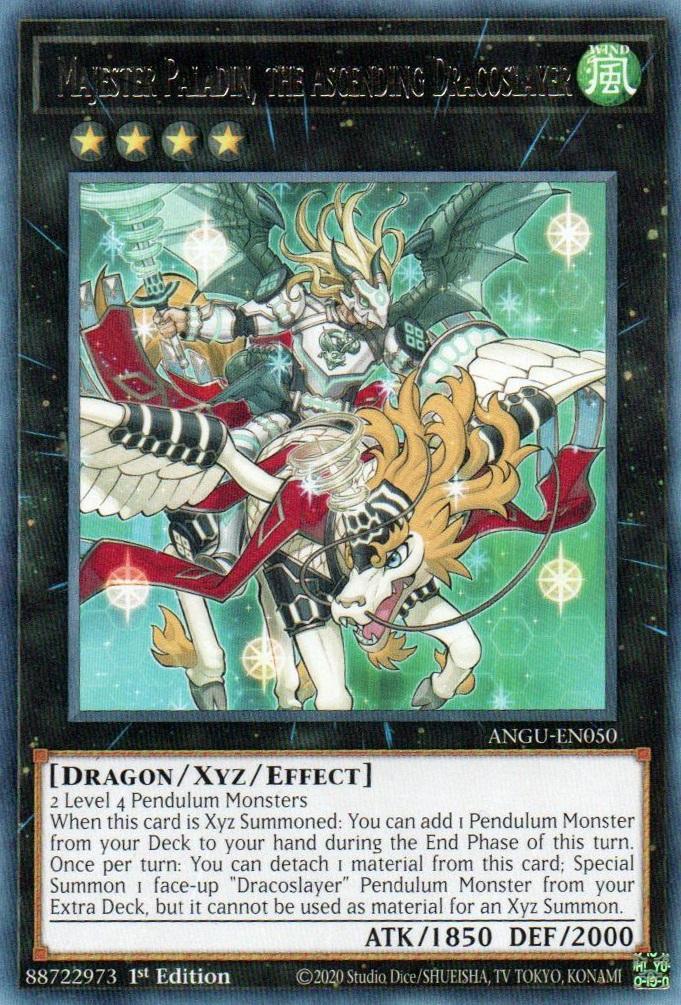 Majester Paladin, the Ascending Dracoslayer - ANGU-EN050 - Rare - 1st Edition