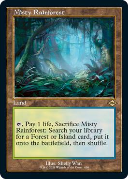 Misty Rainforest - Retro Frame