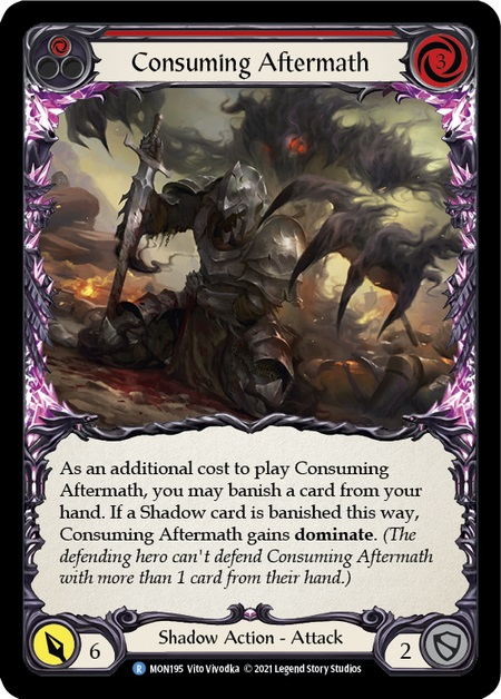 Consuming Aftermath (Red) - Rainbow Foil - 1st Edition
