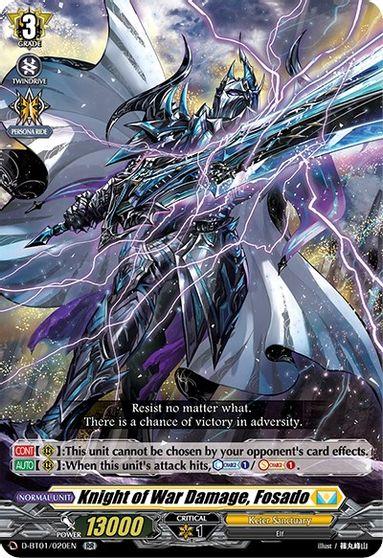 Knight of War Damage, Fosado - D-BT01/020EN - RR