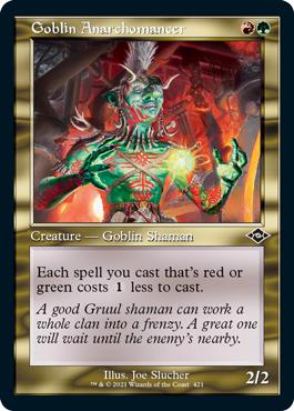 Goblin Anarchomancer (Retro Frame)