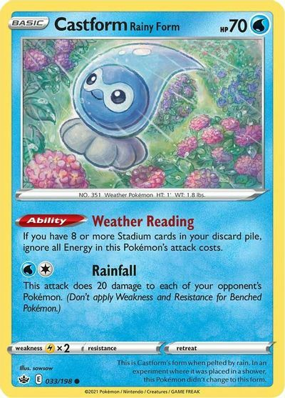 Castform Rainy Form - 033/198 - Common