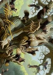 Scurry Oak Art Card - Gold-Stamped Signature