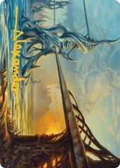 Razortide Bridge Art Card - Gold-Stamped Signature