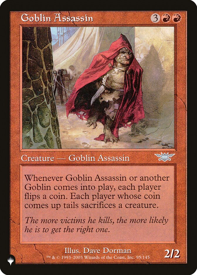 Goblin Assassin - The List