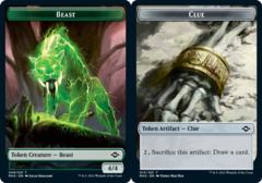 Beast Token // Clue Token (015) - Foil