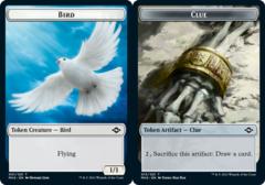 Bird Token // Clue Token (015) - Foil