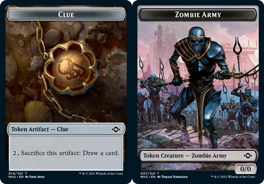 Clue Token (014) // Zombie Army Token - Foil