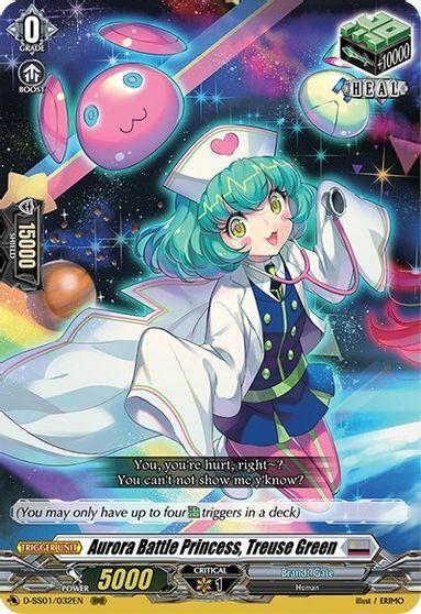 Aurora Battle Princess, Treuse Green - D-SS01/032EN - RRR