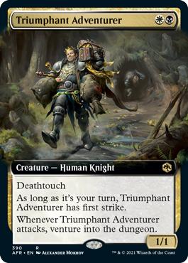 Triumphant Adventurer - Extended Art