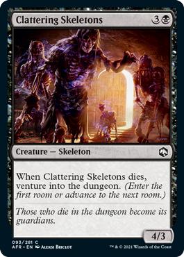 Clattering Skeletons