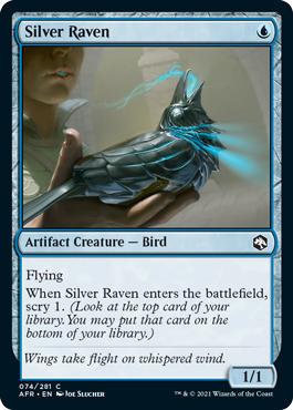 Silver Raven - Foil