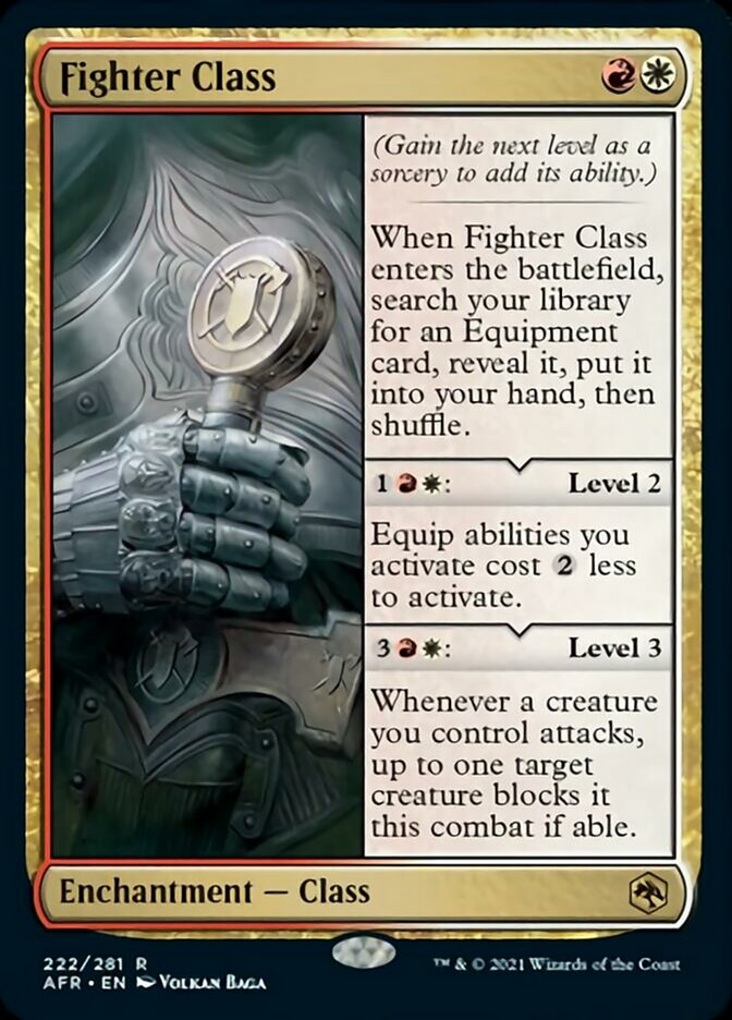 Fighter Class - Foil - Adventures in the Forgotten Realms