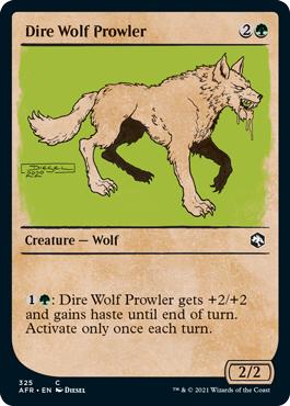 Dire Wolf Prowler - Foil - Showcase