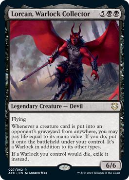 Lorcan, Warlock Collector - Commander: Adventures in the Forgotten Realms