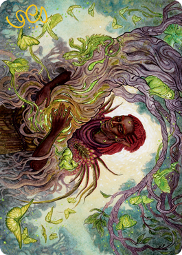 Circle of Dreams Druid Art Card -  Gold-Stamped Signature