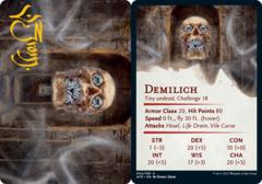 Demilich Art Card -  Gold-Stamped Signature