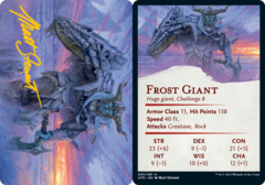 Frost Giant  Art Card -  Gold-Stamped Signature