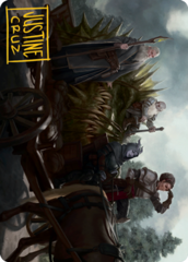Grim Bounty Art Card -  Gold-Stamped Signature