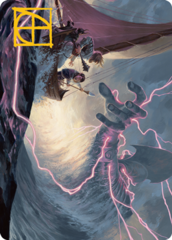 Hall of Storm Giants Art Card -  Gold-Stamped Signature