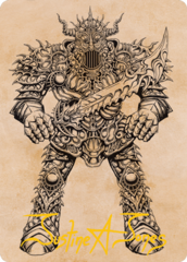 Iron Golem (Showcase) Art Card -  Gold-Stamped Signature