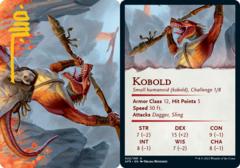 Kobold Art Card -  Gold-Stamped Signature