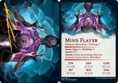 Mind Flayer Art Card -  Gold-Stamped Signature