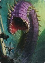 Purple Worm Art Card