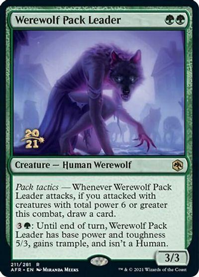 Werewolf Pack Leader - Foil - Prerelease Promo