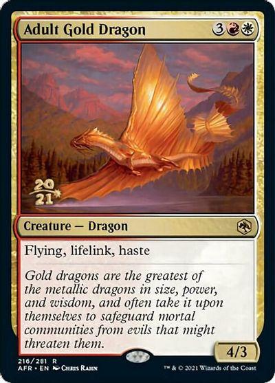 Adult Gold Dragon - Foil - Prerelease Promo