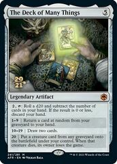 The Deck of Many Things - Foil - Prerelease Promo