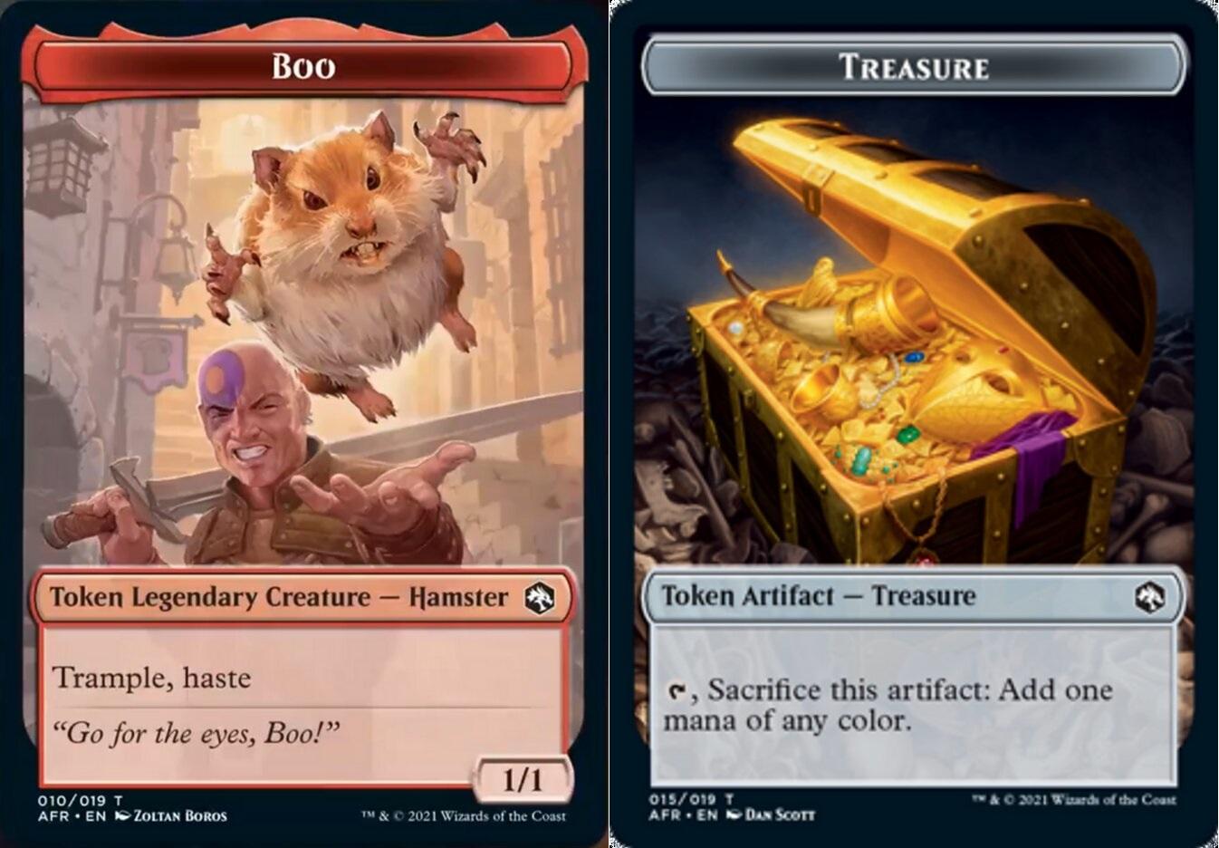 Token - Boo // Treasure - Foil