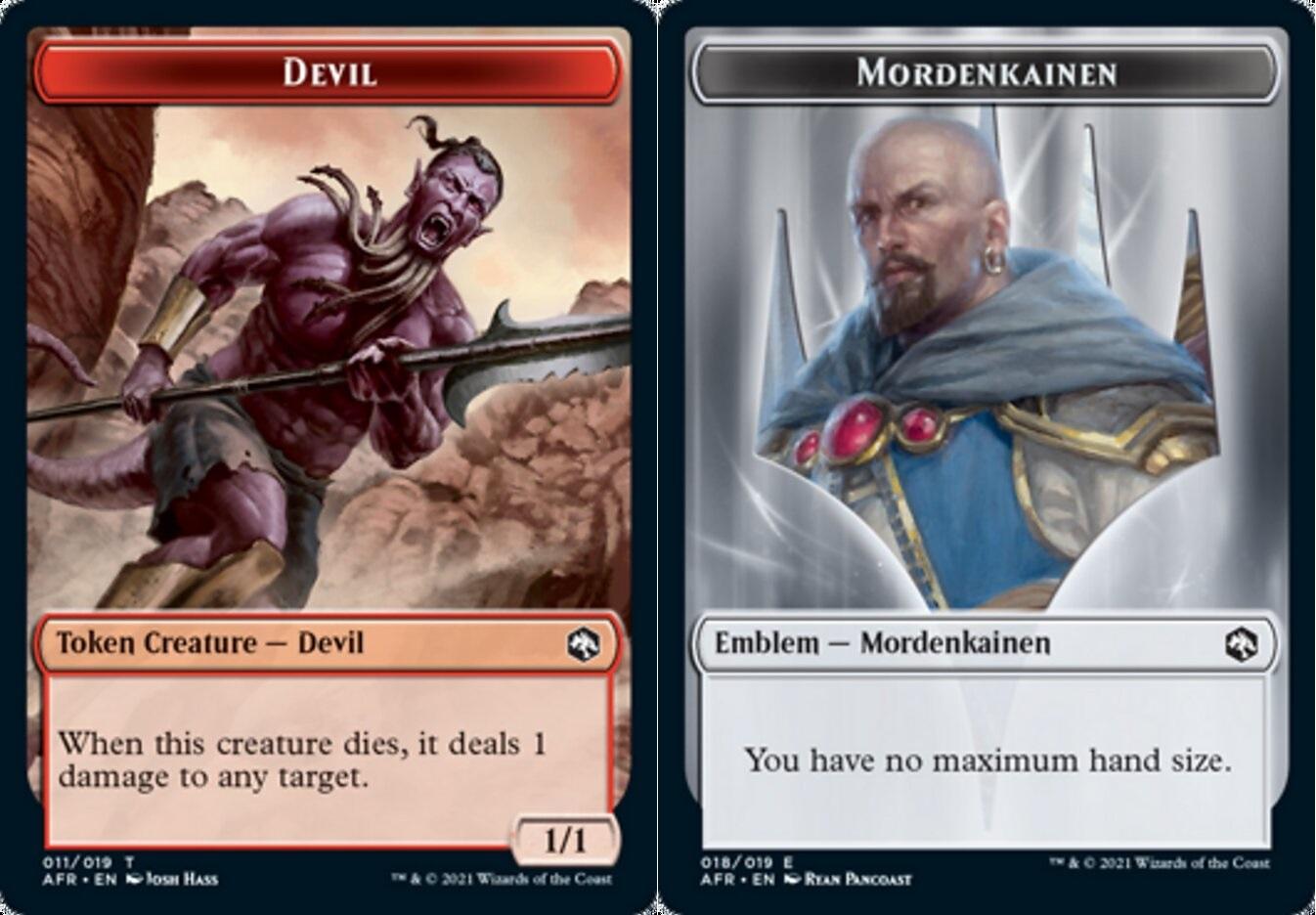 Token - Devil // Emblem - Mordenkainen - Foil